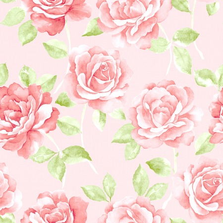 sateen: Fresh spring flowers seamless pattern background