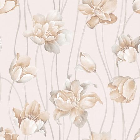 新鮮な春の花のシームレスなパターン背景