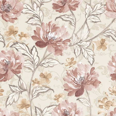 Fresh spring flowers seamless pattern background