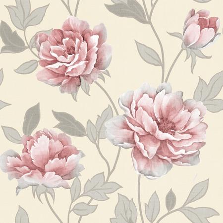 Frisse lente bloemen naadloze patroon achtergrond Stockfoto