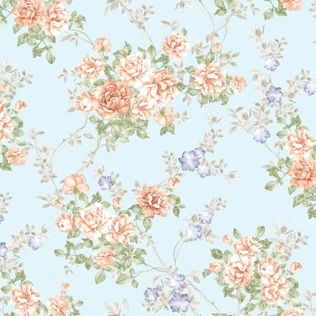 sateen: Fresh spring flowers seamless pattern - For easy making seamless pattern use it for filling any contours