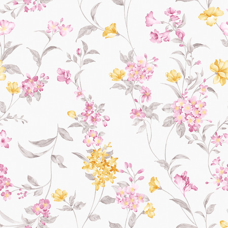 fabric patterns: Fresh spring flowers seamless pattern - For easy making seamless pattern use it for filling any contours