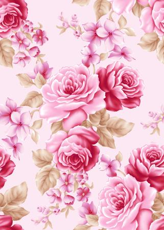 Frisse lente bloemen naadloze patroon achtergrond - voor gemakkelijk maken naadloze patroon gebruiken voor het invullen van alle contouren Stockfoto