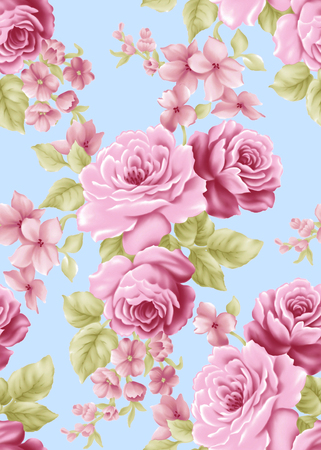 magnificence: Fresh spring flowers seamless pattern background - For easy making seamless pattern use it for filling any contours