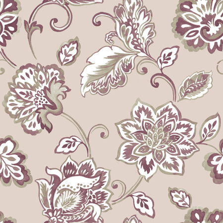 Fresh spring flowers seamless pattern background - For easy making seamless pattern use it for filling any contours photo