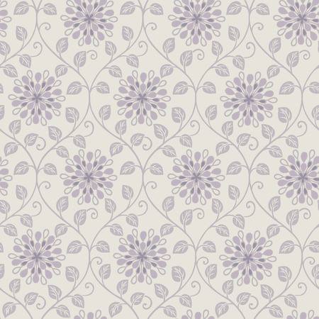 sateen: Fresh spring flowers seamless pattern background - For easy making seamless pattern use it for filling any contours
