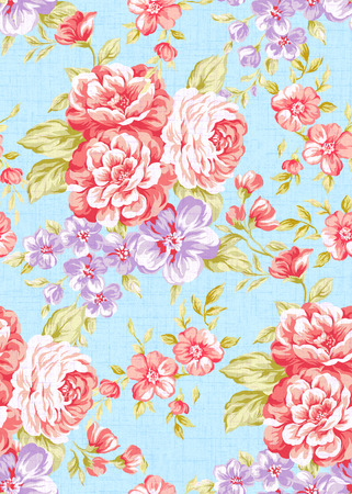 Fresh  flowers seamless pattern background - For easy making seamless pattern use it for filling any contours