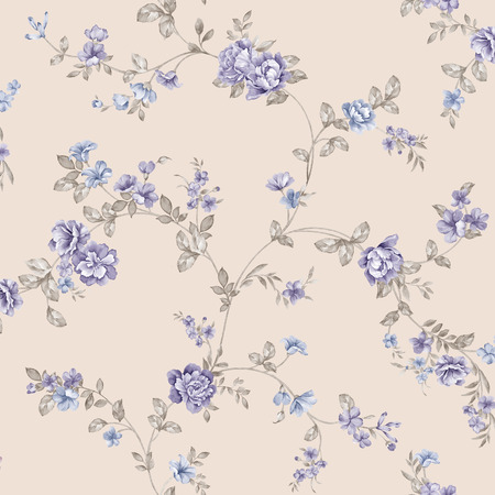 magnificence: Fresh  flowers seamless pattern background - For easy making seamless pattern use it for filling any contours