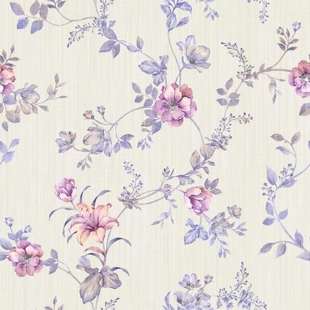 Fresh spring flowers seamless pattern - For easy making seamless pattern use it for filling any contours