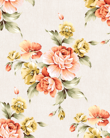 background flower: Fresh spring flowers seamless pattern - For easy making seamless pattern use it for filling any contours