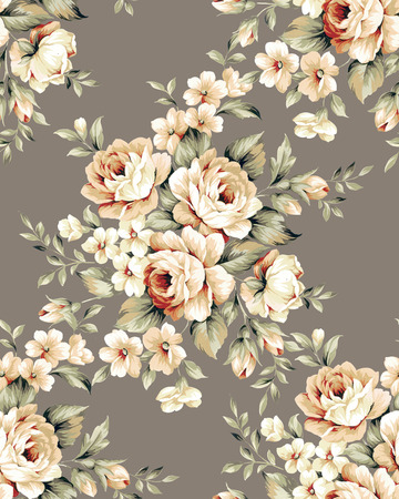 Fresh spring flowers seamless pattern - For easy making seamless pattern use it for filling any contours