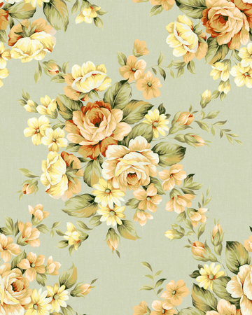 fresh flowers: Fresh spring flowers seamless pattern - For easy making seamless pattern use it for filling any contours