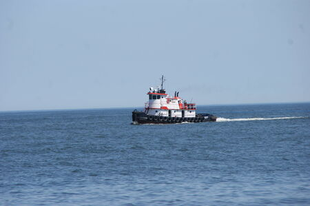 tugboat: Tugboat at Cape Henlopen, Atlantic Ocean