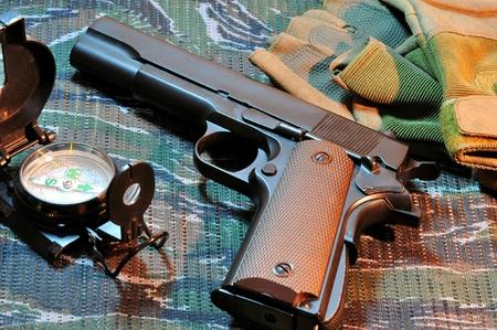 Eleven millimeter automatic pistol.