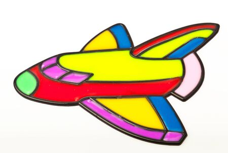 airplane graphic on silicone kids art photo