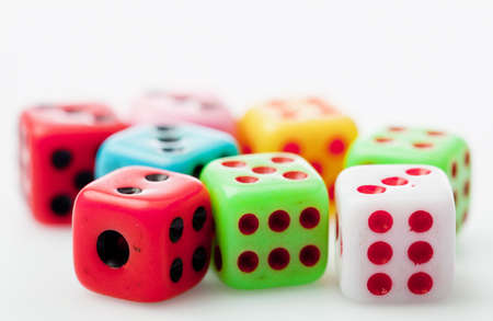 colorful 6 dices photo
