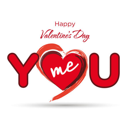 You and me, love card Stock Vector - 24900568