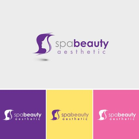 A stylish head of a woman for style, hair and beauty salons. The logo is fully editable. Easily change text and colors. Great for both web and print.