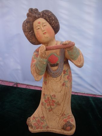 dynasty: Tang Dynasty play music figurines Stock Photo