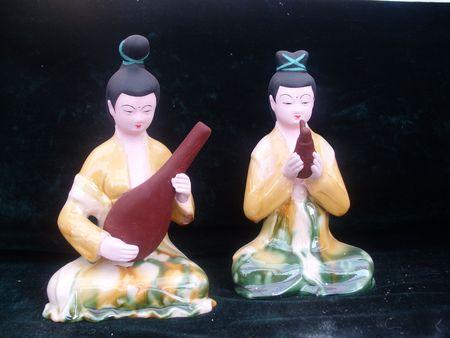 tang:  Tang Dynasty play music figurines