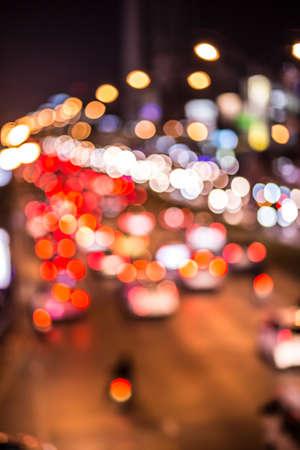 cars on road: Bokeh Lights