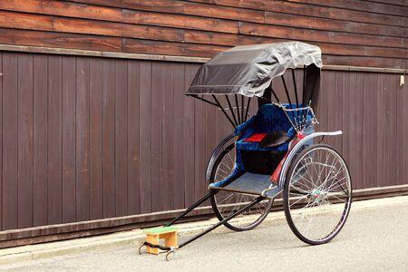 two wheel: rickshaw japan Stock Photo