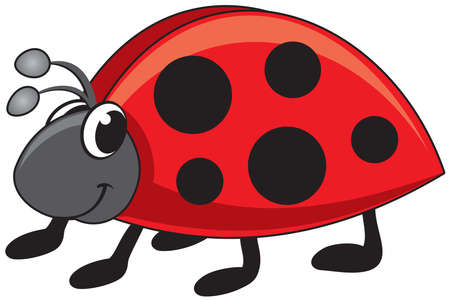 children's vector illustration ladybug funny cartoon