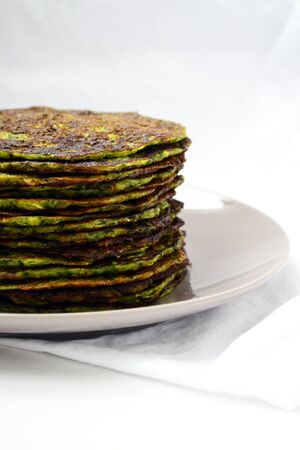 Homemade spinach pancakes