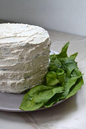 Homemade spinach cake Stock Photo