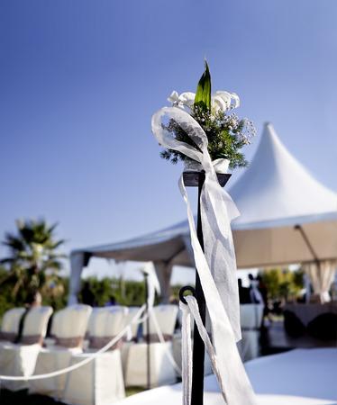 outdoor ceremony. Decoration of celebrations Zdjęcie Seryjne