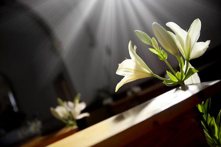 Interior Decorating with flowers. wedding decoration Standard-Bild