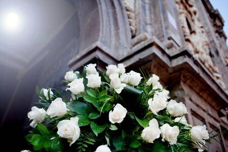 floral decoration for weddings in church Standard-Bild