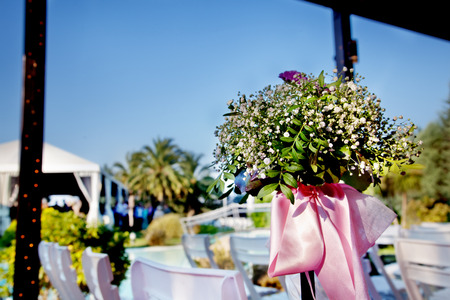 outdoor ceremony. Decoration of celebrations Standard-Bild