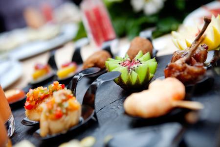 Outdoor catering. Akce Jídlo a oslavy Reklamní fotografie