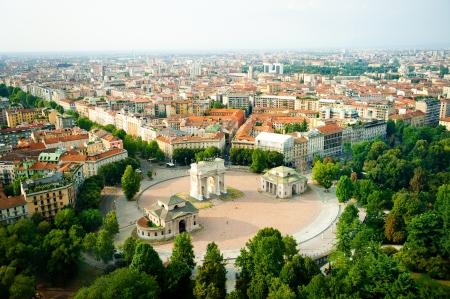 beautiful panoramic view of Milan Zdjęcie Seryjne