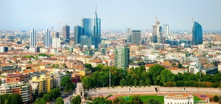 beautiful panoramic view of Milan Banco de Imagens