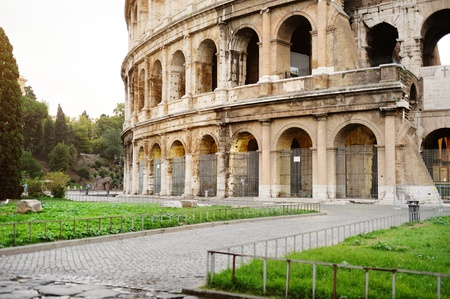 A view of the Colosseum in Rome Stock Photo - 18961859