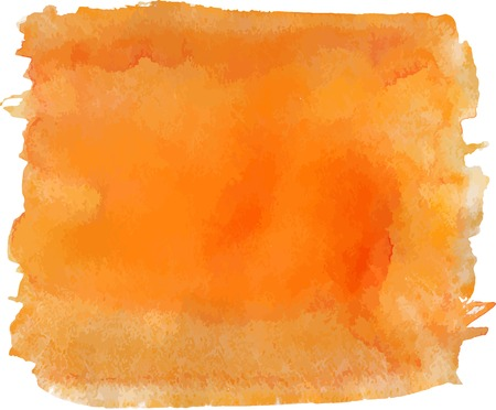 Watercolor orange handmade painted background, vector element