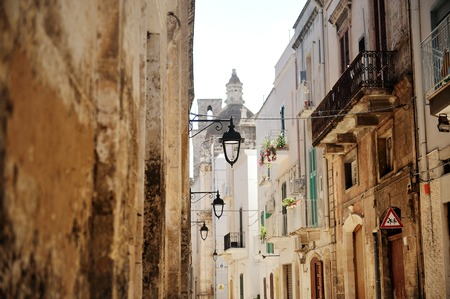 characteristic: characteristic alley in Monopoli city near Bari, Apulia, Southern Italy