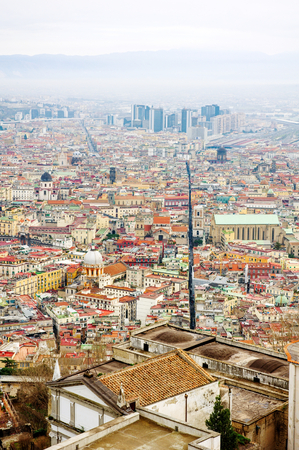 Naples, Italy - panoramic view of Spaccanapoli, the street That divides the city