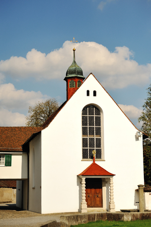 characteristic: Characteristic white church in Bremgarten, Aargau, Switzerland