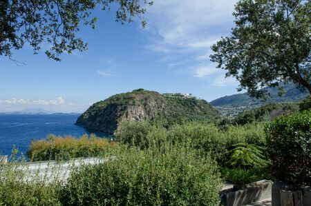 tyrrhenian: Scenic view of Ischia island in the gulf of Naples, Southern Italy