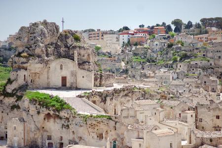european culture: Typical houses of stone (Sassi di Matera) of Matera, UNESCO European Capital of Culture 2019, Basilicata, Italy