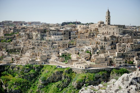 unesco culture heritage: Panoramic view of Matera, Unesco heritage and European capital of culture 2019, Southern Italy