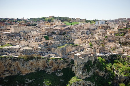 unesco culture heritage: Panoramic view of Matera, Unesco heritage and European capital of culture 2019, Basilicata, Italy Stock Photo
