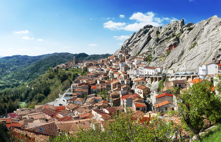 lucania: Wonders of Italy - the town of Pietrapertosa built in the rock mountain
