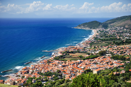 Castellabate scenic panoramic view, Cilento, Campania, Italy; Europe