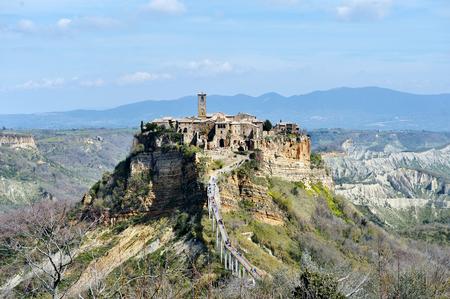 Civita di Bagnoregio, Italy - ancient medieval village panoramic view