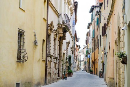Montepulciano, Tuscany, Italy, Europe - characteristic street in the city center