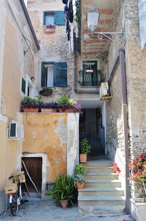 Atmospheric alley in Acciaroli, Province of Salerno, Italy